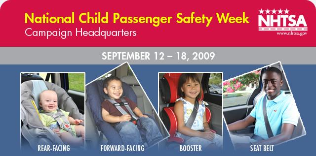 Schnee - National child passenger safety week notice