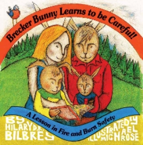 Front cover of book showing bunny family