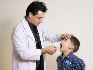 children with the flu