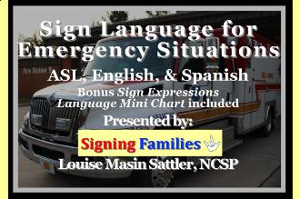 Sign language for emergencies