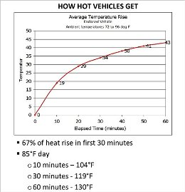 How hot vehicles get