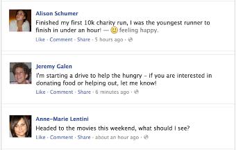 Example FB Teen Public posts