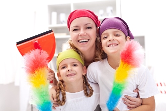 Teaching kids to clean