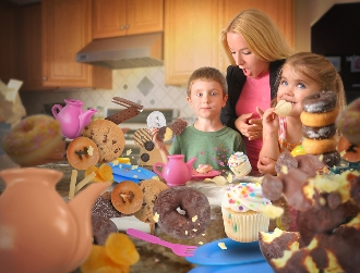 Mother shocked by kids eating sugary foods