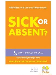 RRP sick or absent one phone call flyer 330x440