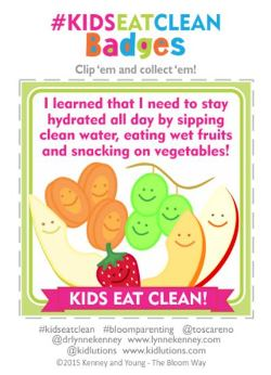 kids eat clean badge